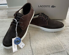 Lacoste Sevrin 116 Brown Suede Casual Shoes Uk 9.5 Eu 44 New Boxed