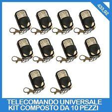 10 TELECOMANDI UNIVERSALI 4 CANALI TELECOMANDO UNIVERSALE PROGRAMMABILE 433MHZ