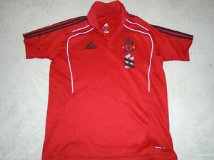 LIVERPOOL FOOTBALL FANS ADIDAS POLO T SHIRT SIZE 42/44 LARGE ADULT