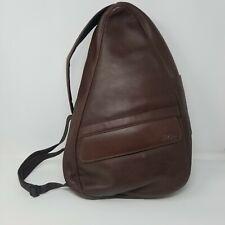 LL Bean Ameribag Brown Leather Sling Bag Shoulder Messenger Backpack