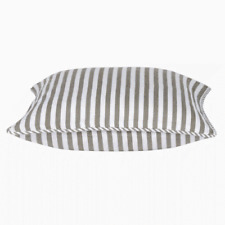 "Hamptons Style Striped Bronze and White Cushion Cover 40x40cm 16x16"" AUS Seller"