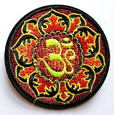 Yoga Aum om infinity hindu indian Lotus retro hippie Iron On patch -No.8
