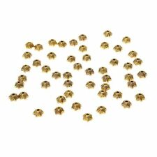 50-Piece Antique Gold Star Shaped Metal Bead Caps for Jewelry Making(6mm) W6V2