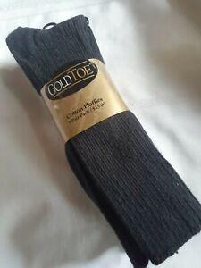 "Men's New Gold Toe ""Cotton Fluffies"" Dark Navy Socks, 3 Pair Pack"
