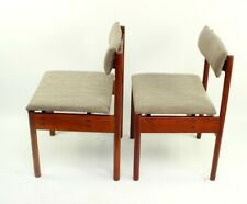 Pair of Retro Danish Style Teak Dining Chairs [5858 A ]