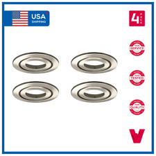 """4"""" 4 Inch Recessed Trims Adjustable Gimbal Downlights Brushed Satin Nickel x4"""