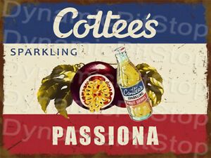 30x40cm Cottees Passiona Rustic Tin Sign or Decal, Cave, Bar, Retro, Vintage