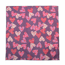 New MTL® Unisex Valentine Plaid and Polka Dot Heart Bandana USA Made
