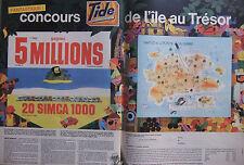PUBLICITÉ DE PRESSE 1962 CONCOURS TIDE DE L'ILE AU TRÉSOR - SIMCA - ADVERTISING
