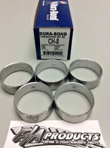 Small Block Chevy 305 327 350 383 400 Engine Camshaft Bearing Set Dura-Bond CH8