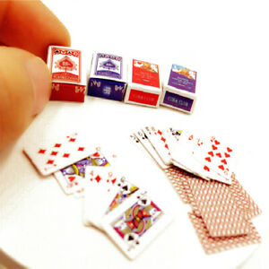 Dollhouse Poker Model Card Deck Set Miniature Playing Cards Accessories