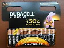12 x Duracell AAA Plus Power Alkaline Batteries LR03, MN2400 Longest Expiry UK