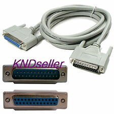 1.8M 6FT Parallel 25 pin Male to Female Extension Printer Cable 25P Sharer cord