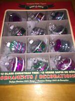 $38 Christopher Radko Shiny Brite Ornaments NiB LR