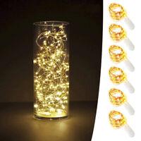 6x 20er LED Lichterkette Drahtlichterkette Leuchtdraht Deko Micro warmweiss SD