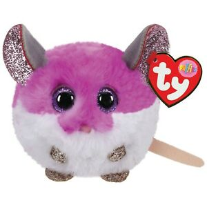 OFFICIAL TY BEANIE - TY PUFFIES COLLECTION -COLBY MOUSE   SOFT TOY 42505