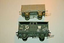 More details for 2 x kitbuilt wagons (mineral/gw cattle van). em/p4 scale. compensated chassis.