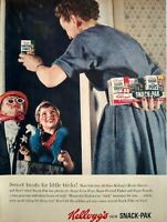 1954 Kelloggs Cereal Halloween Trick Or Treaters Costumes Photo Vintage Print Ad