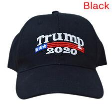 Trump 2020 President Make America Great Again MAGA Baseball Cap Hat Black Red