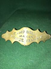 More details for antique victorian harness brass maker plate campbell forge valley  , hinged