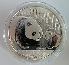2011 Silver Chinese Panda 1 oz .999 Silver Bullion Coin - China 10 Yuan