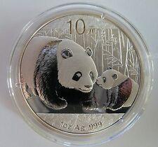 2011 Argento CINESE Panda 1 OZ (ca. 28.35 g) .999 Argento Moneta d'oro-Cina 10 Yuan