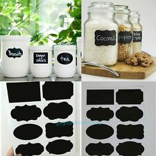 40pcs Jar Lables Tag Blackboard Chalkboard Chalk Board Stickers for Home Kitchen