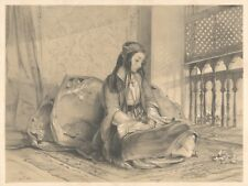 """1838 Lithograph - """"Greek Girl"""", Constantinople (Istanbul)"""