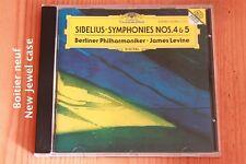 Sibelius - Symphonies n°4 et 5 - James Levine - CD Deutsche Grammophon