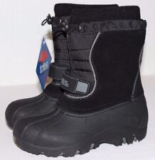NEW Boy's Kid Size 2 TOTES Jacob Black Waterproof Shell Warm Winter Snow Boots