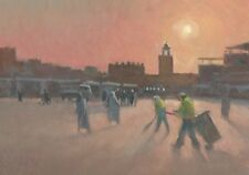 "ORIGINAL MICHAEL RICHARDSON ""Dawn in the Jemaa el Fna Marrakech"" AFRICA PAINTING"