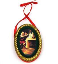 COCA-COLA EE.UU. Decoración de árbol navidad adornos - SANTA 1963 Ornamento