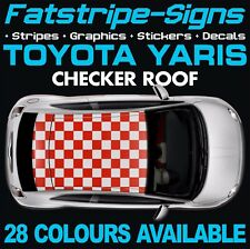 Toyota Yaris Checker toit Graphique Autocollants Rayures Autocollants TRD XP10 XP90 XP130