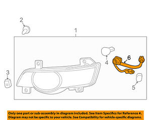 Chevrolet GM OEM Traverse Side Marker Signal Lamps-Front-Socket & Wire 25851959