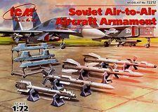 Soviet/russian air-air à bras (pour mig 21 i, mig 29/33/35, su 27/30/33) 1/72 icm
