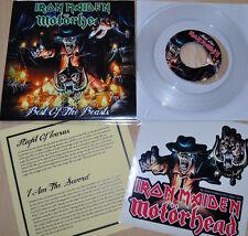 """Iron Maiden Motörhead 7"""" single Best of the Beast Pt. I clear vinyl RARE!"""