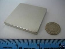 "1 of 2"" x 2"" x 1/4"" N42 Neodymium Block Magnet large rare earth square magnetic"