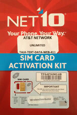 - Net10 Nano Sim Card At&t Network Unlimited Service -