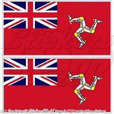 """ISOLA di Man civile Insegna MERCANTILE Bandiera Adesivi UK 75mm (3"""") Adesivo, x2"""