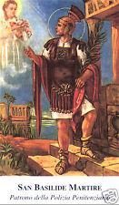 SANTINO HOLY CARD SAN BASILIDE