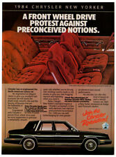 1984 CHRYSLER New Yorker Vintage Original Print AD interior car photo Canada EN