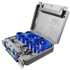 Kobalt 13-Piece Bi-Metal Hole Saw Kit Drill Bits Steel Grit Carbide Accessories