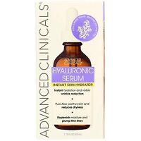 Advanced Clinicals Hyaluronic Serum Instant Skin Hydrator, 1.75 fl oz