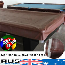 8ft Waterproof Pool Snooker Billiard Table Cover Fitted Heavy Duty Vinyl Brown