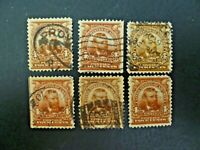 USA Lot of 6 1903 $.04 Grant #303 Used, F/VF  - See Description & Images