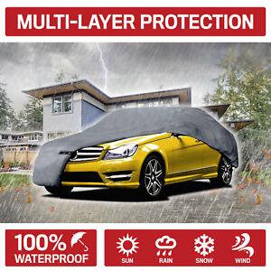 Motor Trend Full Indoor Outdoor Car Cover Waterproof UV Rain Dust Protection
