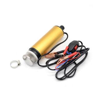 Car Portable Electric Submersible Pump Filter Net Diesel Water Oil Transfer Tool