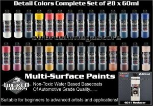 Wicked Colors 60ml Detail Colours 28 Set + 240ml Reducer & Free Insured Freight