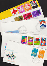 Netherlands 1972 FDC 5 Covers Olympic Games Red Cross Holland Festival Europe