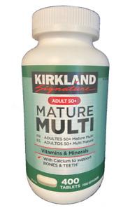 Kirkland Signature Adult 50+ Mature Multi Vitamins & Minerals 400 Tablets